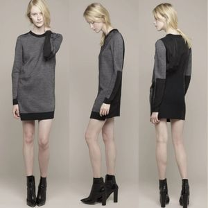 Phillip Lim 3.1 Tweed Stitch Sweater Dress M Black